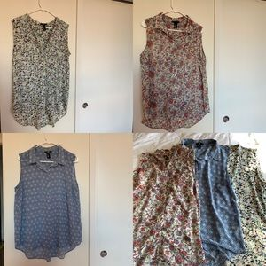 3 H&M sheer tank tops for the price of 1!